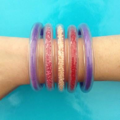 bracelet circle color red