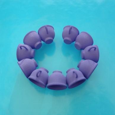 bracelet cup purple