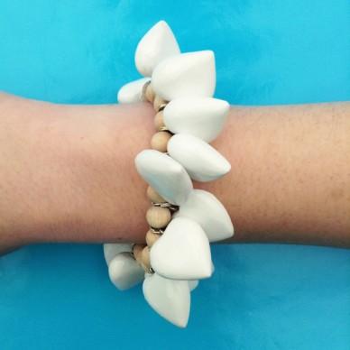 bracelet heart white
