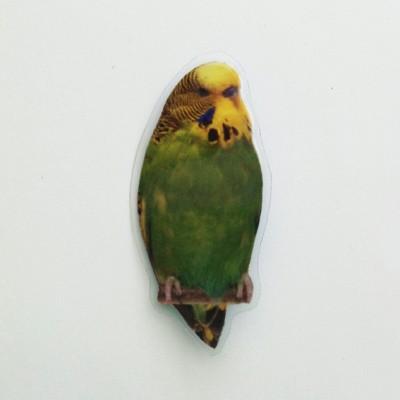 brooch lam bird green