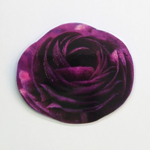 brooch  darkpurple flower