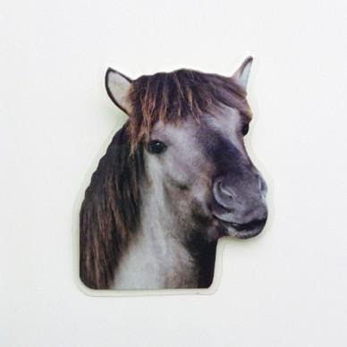 brooch lam horse grey