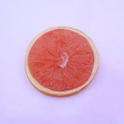 brooch orange red large
