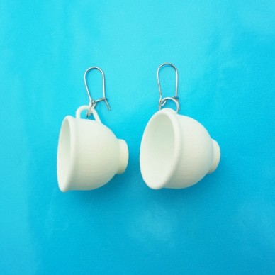 earring cup white