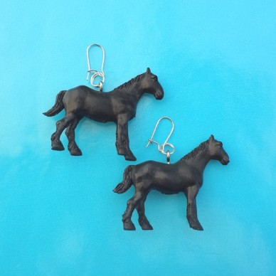 earring horse black