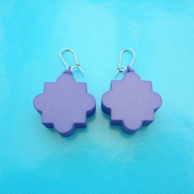 earring mandala purple