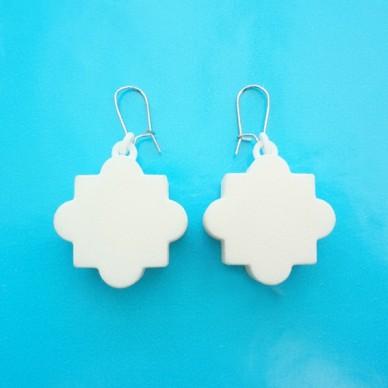earring mandala white