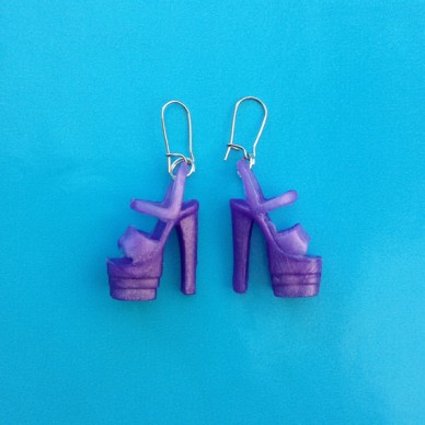 earring shoe purple