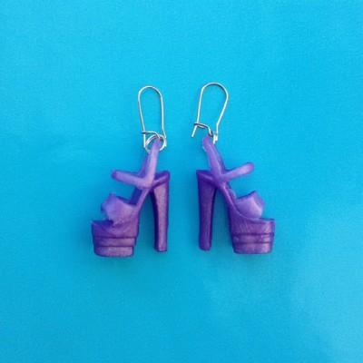 earring shoe purple