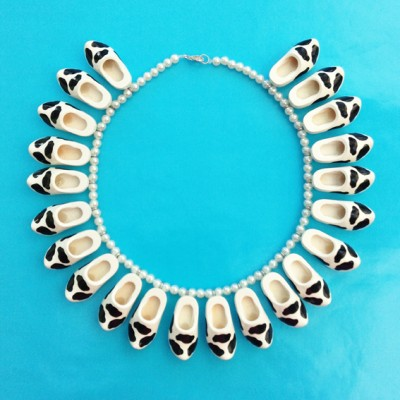 necklace clog cow