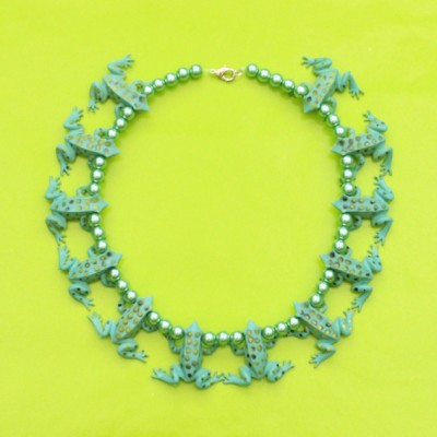 necklace frog turkoois 72