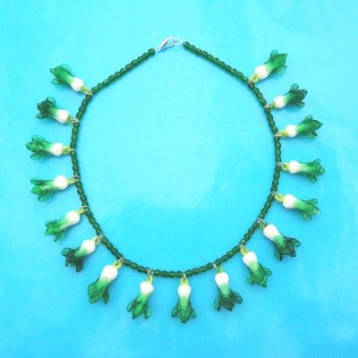 necklace glass cabbage