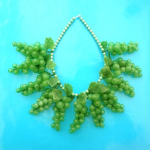 necklace grape green