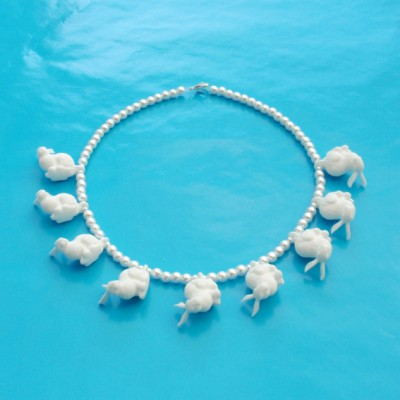 necklace rabbit white