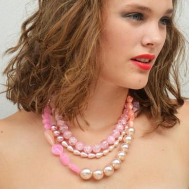 necklace shine pink large vk 72
