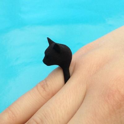 ring cat head black