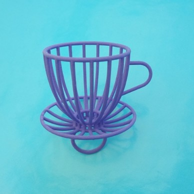 ring cup and saucer purple