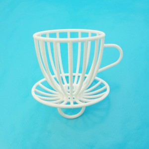 ring cup and saucer white