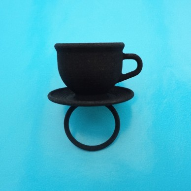 ring cup black