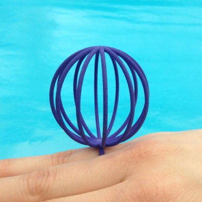 ring pearlball purple