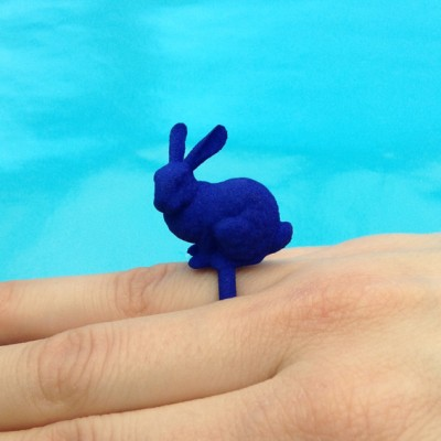 ring rabbit blue