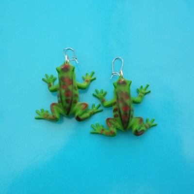 earring frog darkgreen
