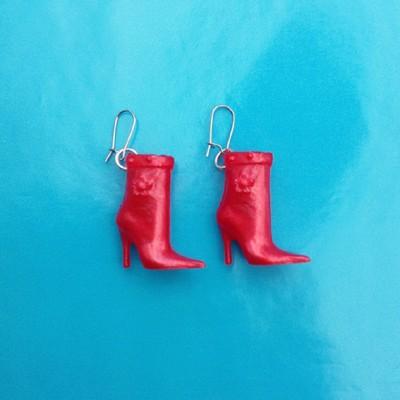 earring shoe red