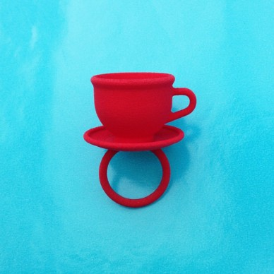ring cup red