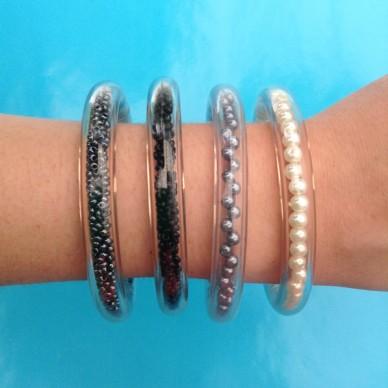 bracelet circle black 4x 72