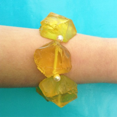 41bracelet resin chunk yellow 72