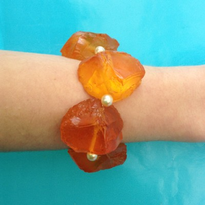 43bracelet resin chunk orange 72
