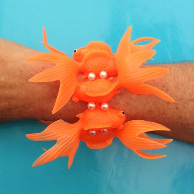 bracelet fish orange large arm 72