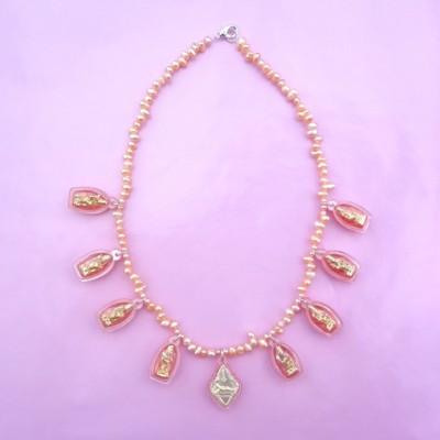 necklace buddha softpink 72