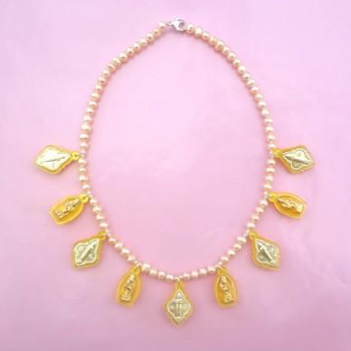 necklace buddha yellow 72