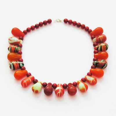 necklace drop red 72