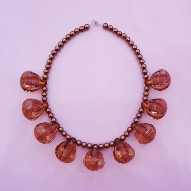 necklace shine brown 72