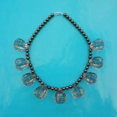 necklace shine grey 72