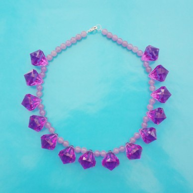 necklace shine purple 5 72