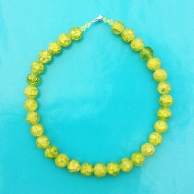111necklace shine green broken 72 - kopie