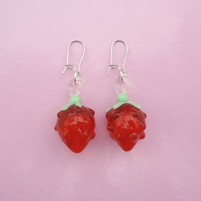 125earring glass redberry 72