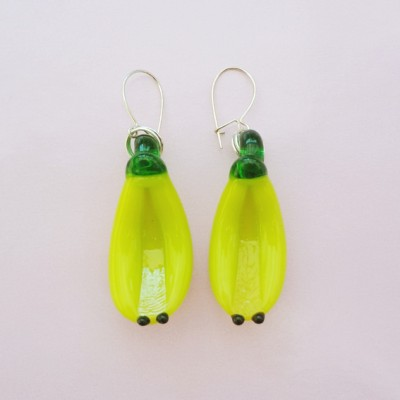127earring glass banana 72