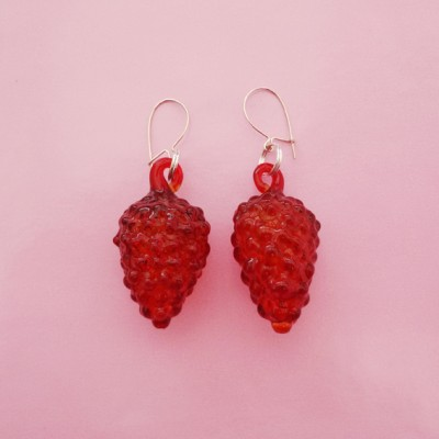 133earring glass redfruit 72