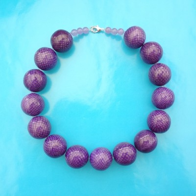 17necklace snakeball purple 72