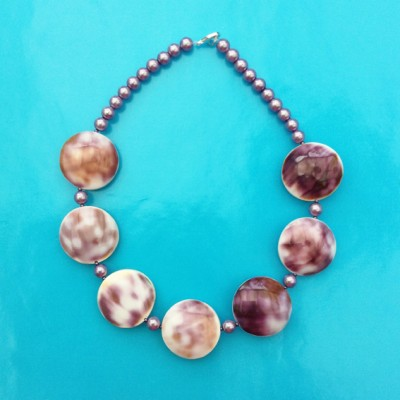 19necklace shell purple 72 - kopie