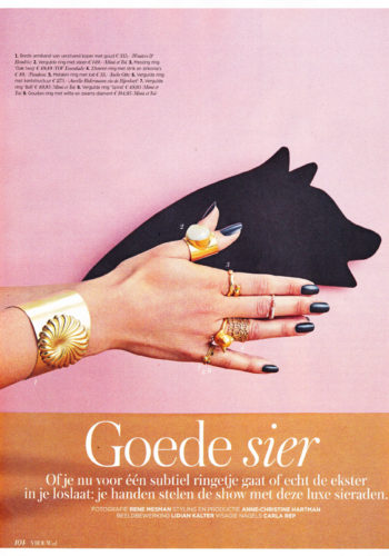 2016 Vrouw Glossy ring cat gold 72