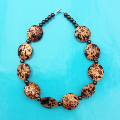 20necklace shell brown 72 - kopie