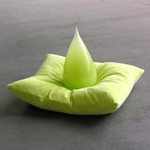 22glass tear green cushion 72 kopie