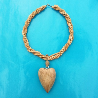 24necklace wood heart XL 72
