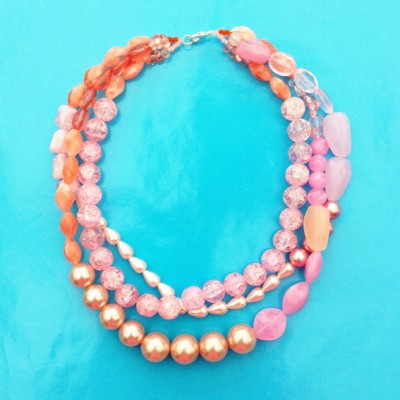 3 necklace shine pink large 72 - kopie