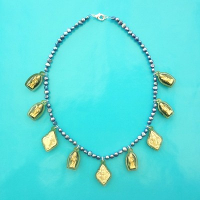 30 necklace buddha green OK 72 - kopie